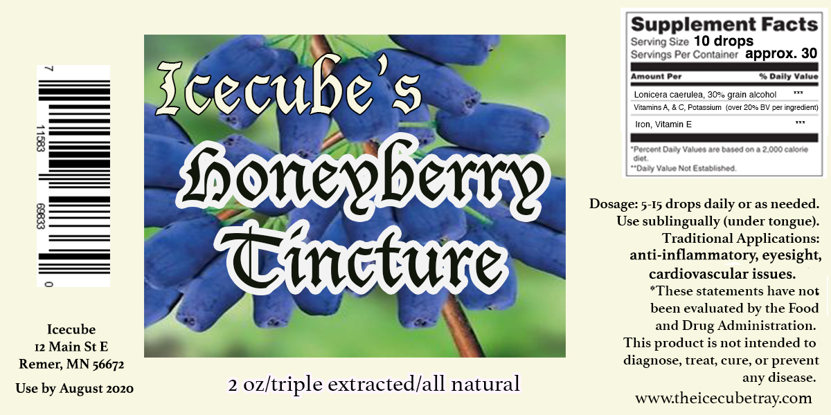 honeyberry natural tincture, herbal extract
